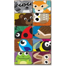 ASH 78001 Ashley Prod. Critters Design Mini Whitebrd Erasers ASH78001