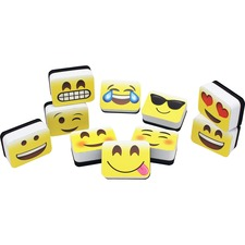 ASH 78005 Ashley Prod. Emojis Mini Whiteboard Erasers ASH78005