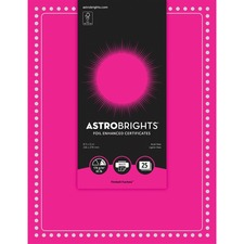 Astrobrights Foil Enhanced Certificates - Dots Design