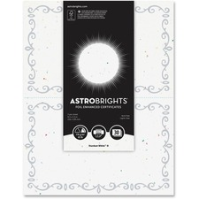 Astrobrights Half-size White Foil Certificates