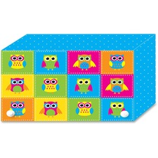 ASH 90452 Ashley Prod. Colorful Owls Index Card Holder ASH90452