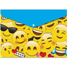 ASH90601 - Ashley Emojis Design Snap Poly Folders