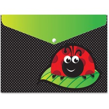 ASH 90603 Ashley Prod. Ladybug Design Snap Poly Folders ASH90603