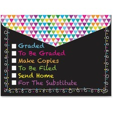 ASH 90607 Ashley Prod. Checklist Snap Cover Poly Folders ASH90607