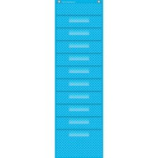 TCR 20738 Teacher Created Res. Polka Dot Storage Pckt Chart TCR20738