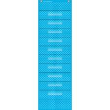 TCR 20738 Teacher Created Res. Polka Dot Storage Pckt Chart TCR20738