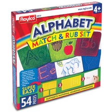 RYL R48232 Roylco Alphabet Match and Rub Set RYLR48232