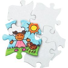 RYL R52022 Roylco Blank Cardboard Puzzle Pieces RYLR52022