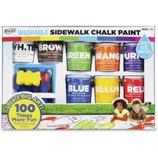 RAI CXX66 RoseArt Ind. Washable Sidewalk Chalk Paint Set RAICXX66