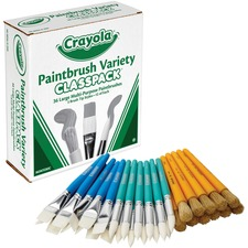 CYO 050036 Crayola Paintbrush Variety Classpack CYO050036