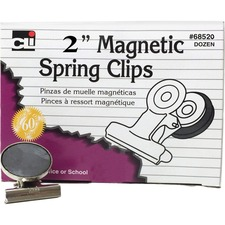 LEO 68520 Charles Leonard Magnetic Spring Clips LEO68520