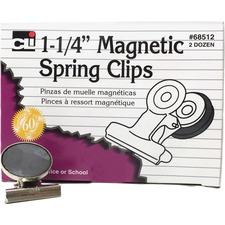 LEO 68512 Charles Leonard Magnetic Spring Clips LEO68512