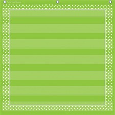 TCR 20741 Teacher Created Res. Lime Dots 7-pocket Chart TCR20741