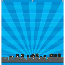 TCR 20743 Teacher Created Res. Superhero 7pkt Pocket Chart TCR20743