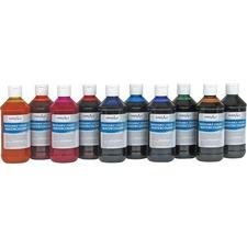 Handy Art Washable Liquid Watercolors - 8 oz - 10 / Set