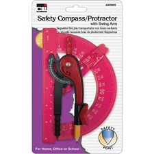LEO80965ST - CLI Swing Arm Safety Compass/Protractor