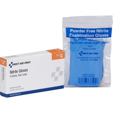 FAO 21026 First Aid Only Nitrile Examination Gloves FAO21026