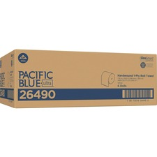 "Pacific Blue Ultra 8Ó High-Capacity Recycled Paper Towel Roll by GP PRO - 7.87"" x 1150 ft - White - Paper - Flexible, Cleaning - 6 - 6 / Carton"