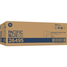 "Pacific Blue Ultra 8Ó High-Capacity Recycled Paper Towel Roll by GP PRO - 7.87"" x 1150 ft - Brown - Paper - Flexible, Chlorine-free - 6 - 6 / Carton"