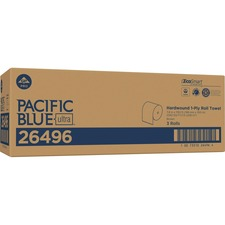 "Pacific Blue Ultra 8Ó High-Capacity Recycled Paper Towel Roll by GP PRO - 7.87"" x 1150 ft - Brown - Paper - Flexible, Chlorine-free - 3 - 3 / Carton"