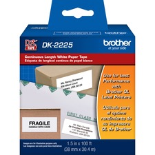 BRT DK2225 Brother BK on WE Continuous Length Paper Labels BRTDK2225