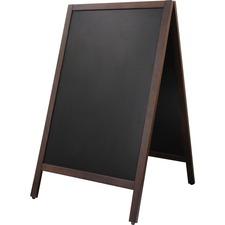 """Quartet Double-Sided Sidewalk Chalkboard Sign - 17"""" (1.4 ft) Width x 29"""" (2.4 ft) Height - 1 Each"""