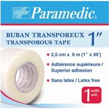"Paramedic Microporous Tape 1"" - 10 yd (9.1 m) Length x 1"" (25.4 mm) Width - Plastic - 1 Each"