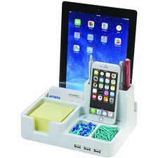 Artistic ART79000 Docking Station - for Smartphone/Tablet - USB - 3 x USB Ports - 3 x USB 2.0 - White - Wired