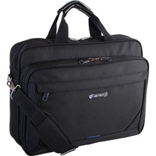 """Holiday Carrying Case (Messenger) for 15.6"""" Notebook - Black - Polytex - Handle, Shoulder Strap - 12"""" (304.80 mm) Height x 4.50"""" (114.30 mm) Width x 16"""" (406.40 mm) Depth"""