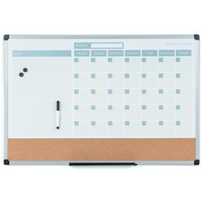 BVC MB0707186P Bi-silque 3-in-1 Monthly Dry-erase Calendar Board BVCMB0707186P