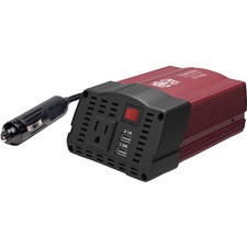 Tripp Lite 150W Compact Car Inverter 12V 120V 2-Port USB Charging 1 Outlet