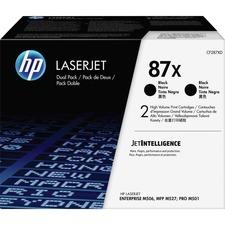 HP 87X (CF287XD) Toner Cartridge - Black - Laser - High Yield - 36000 Pages