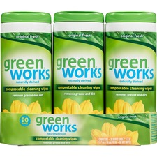 CLO 30655 Clorox Green Works Compostable Cleaning Wipes CLO30655
