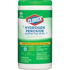 CLO 30830 Clorox Hydrogen Peroxide Disinfecting Wipes CLO30830