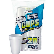 DCC 16FP20 Dart Insulated 16 oz. Beverage Cups DCC16FP20
