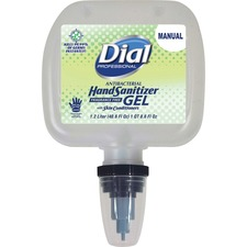 DIA 13425EA Dial Corp. Antibacterial Hand Sanitizer Gel Refill DIA13425EA