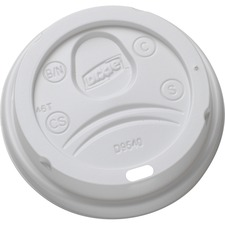DXE DL9540 Dixie Foods 10 oz. Hot Cup Lid DXEDL9540