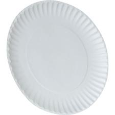 "DXE WNP9ODPK Dixie Foods 9"" Economy White Paper Plates DXEWNP9ODPK"