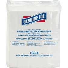 GJO 11254PK Genuine Joe 1-ply Embossed Lunch Napkins GJO11254PK