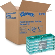 KCC 13216 Kimberly-Clark Kleenex 2-ply Facial Tissue Dec Box KCC13216