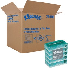 KCC 21005CT Kimberly-Clark Kleenex Facial Tissue KCC21005CT