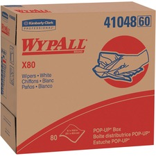 KCC 41048EA Kimberly-Clark WypAll X80 Wipers Pop-up Box KCC41048EA