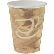 SCC 412MSN0029 Solo Cup Mistique Design Paper Hot Cups SCC412MSN0029