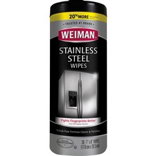 WMN 92 Weiman Products Stainless Steel Wipes WMN92