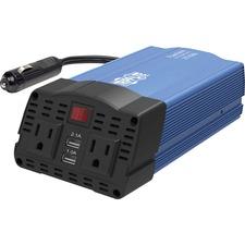 Tripp Lite PowerVerter PV375USB Power Inverter - Input Voltage: 12 V DC - Output Voltage: 120 V AC - Continuous Power: 375 W