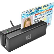 Adesso MSR-100 Magnetic Stripe Card Reader - Triple Track - 1270 mm/s