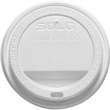 Solo 10-24 oz Hot Cup Lid - Dome - 100 / Pack - White