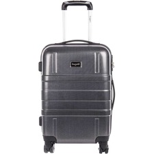 "bugatti Travel/Luggage Case (Roller) Travel Essential - Black - Impact Absorbing - Acrylonitrile Butadiene Styrene (ABS) Shell, Polycarbonate Shell - Checkpoint Friendly - Telescoping Handle, Handle - 20"" (508 mm) Height x 10"" (254 mm) Width x 14"" (355.60 mm) Depth - 1 Pack"