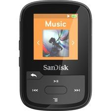 SanDisk Clip Sport Plus 16 GB Flash MP3 Player - Black