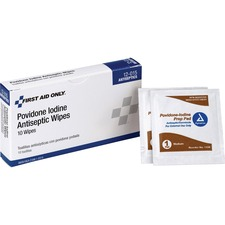 FAO 12015 First Aid Only Povidone Iodine Antiseptic Wipes FAO12015